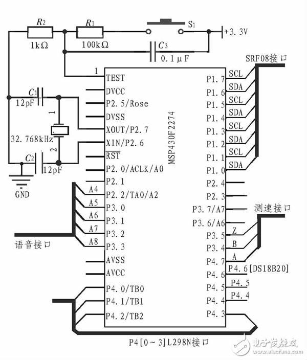智能小车主控系统电路设计图剖析