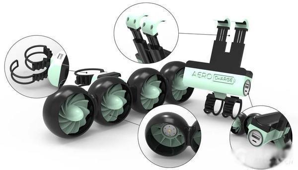 风力发电充电宝,吹吹风就能给手机冲电!