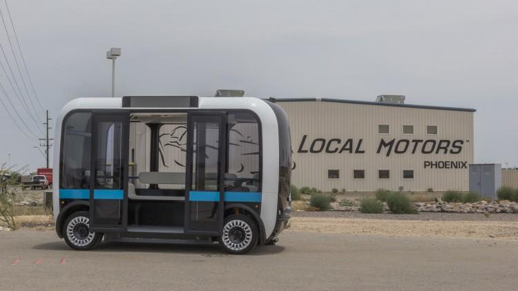 IBM与Local Motors合作推出自动驾驶电动汽车Olli
