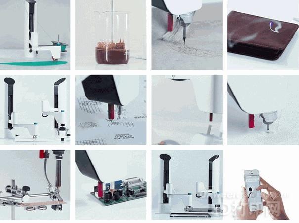 """集3D打印、激光雕刻等多功能智能机器臂 """"Makerarm""""登陆kickstarter众筹"""