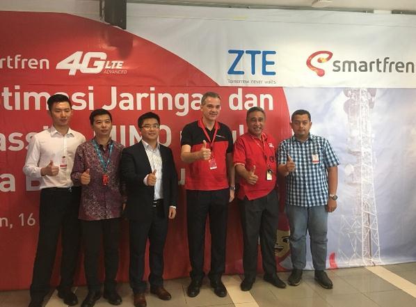 """共迎""""新通信时代"""" 印尼金光与中兴通讯完成东南亚首个Pre5G测试"""