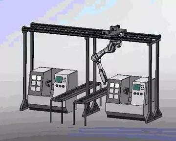 上下料机器人在数控机床中的应用