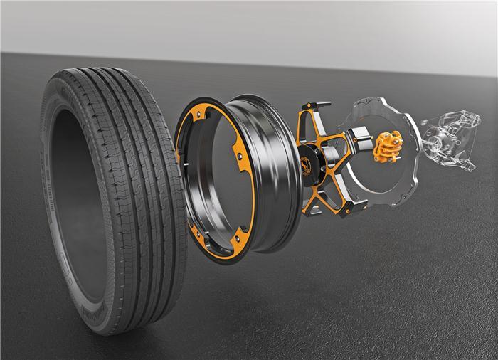 大陆集团首次在电动汽车领域引入了创新车轮和刹车概念