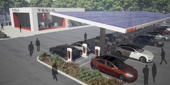 特斯拉新型超级充电站构想:增设餐饮休息区