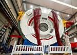 国内首台6MW海上半直驱永磁同步风力发电机下线