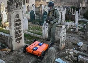 俄罗斯机器人抵达叙利亚,为巴尔米拉排雷