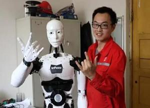 动力源于梦想 民间高手自制人形机器人