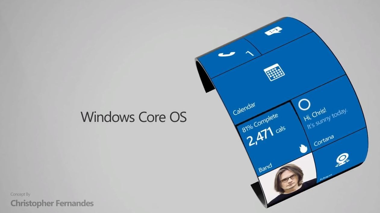 微软Surface手表概念视频:可弯曲
