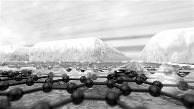 """石墨烯将光""""压缩""""在单原子尺度内"""