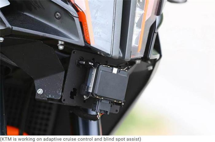 KTM研发摩托车用自适应巡航控制及盲点探查技术