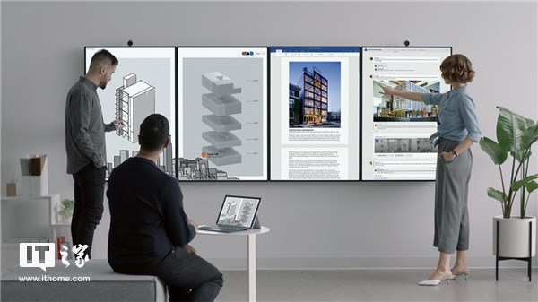 微软发布巨型会议室显示器Surface Hub 2