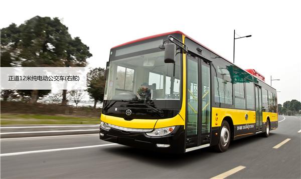 发往泰国的正道12米纯电动公交车
